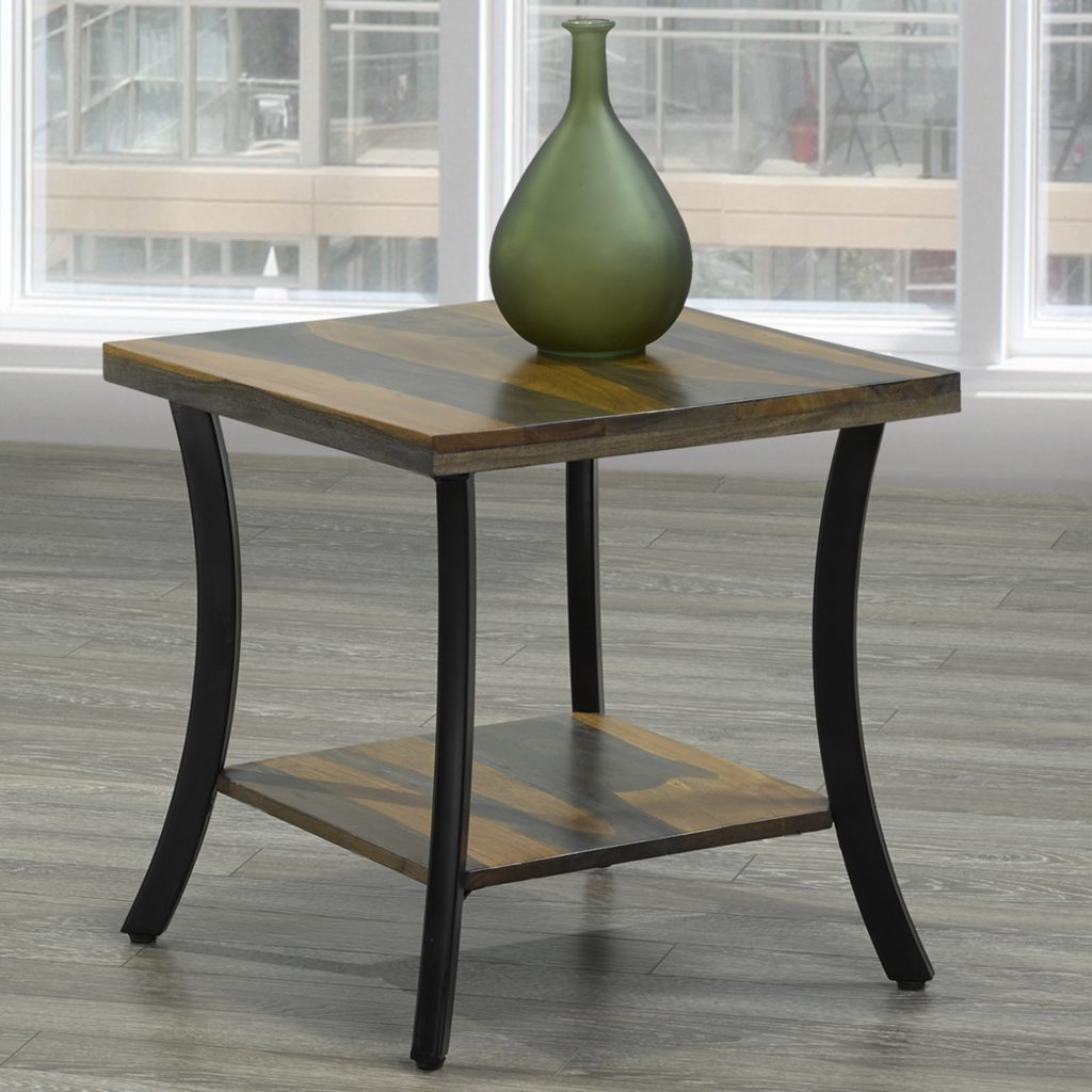 Surin Natural & Grey 2-Tone Accent Table