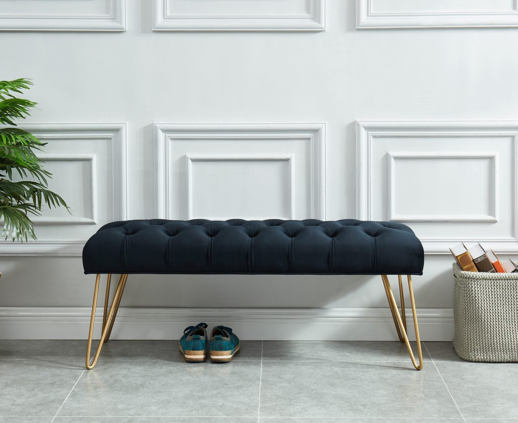 Vdara Black & Gold Bench