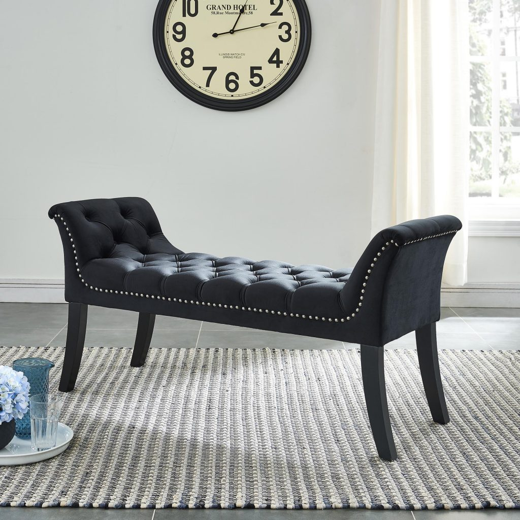 Velci Black Bench