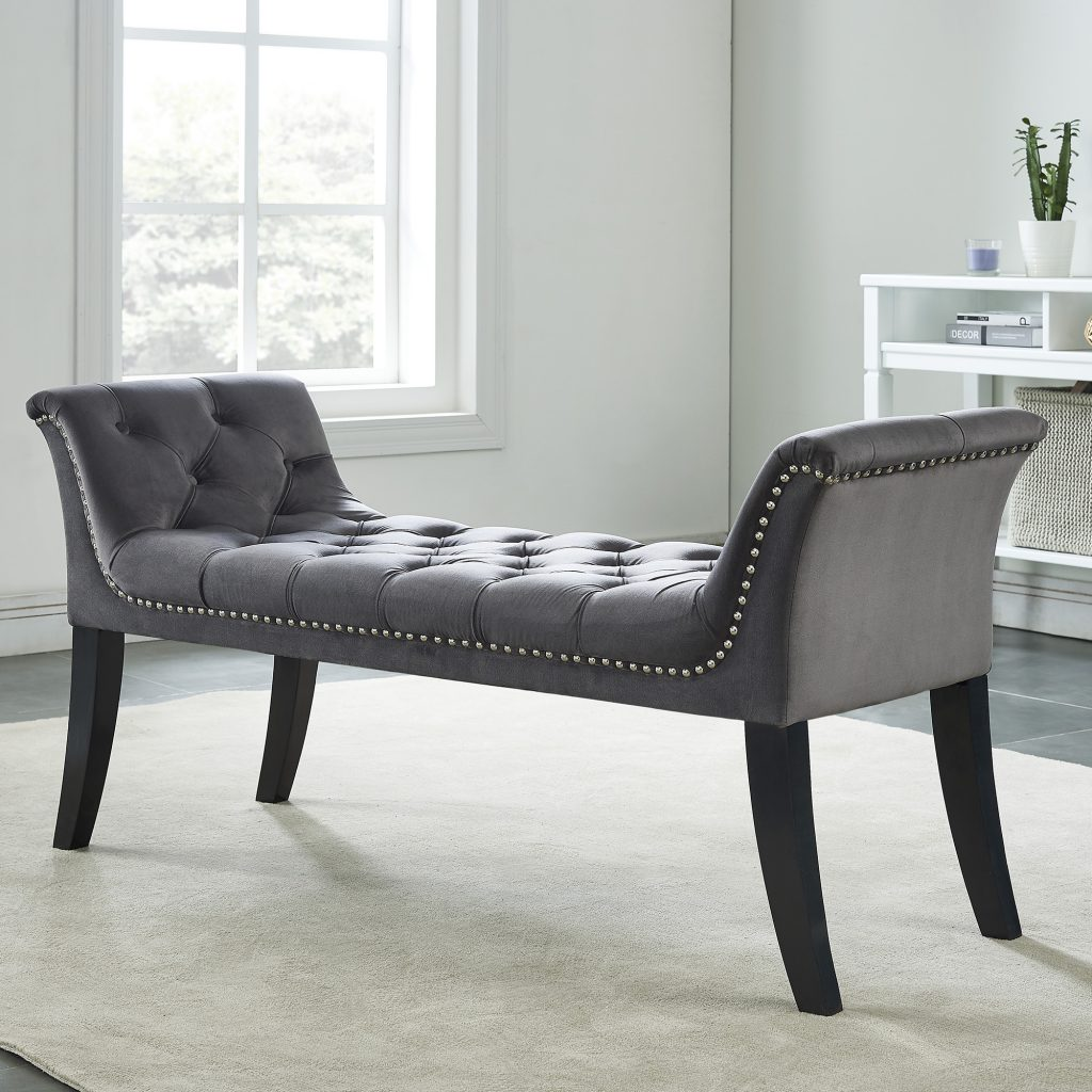 Velci Grey Bench