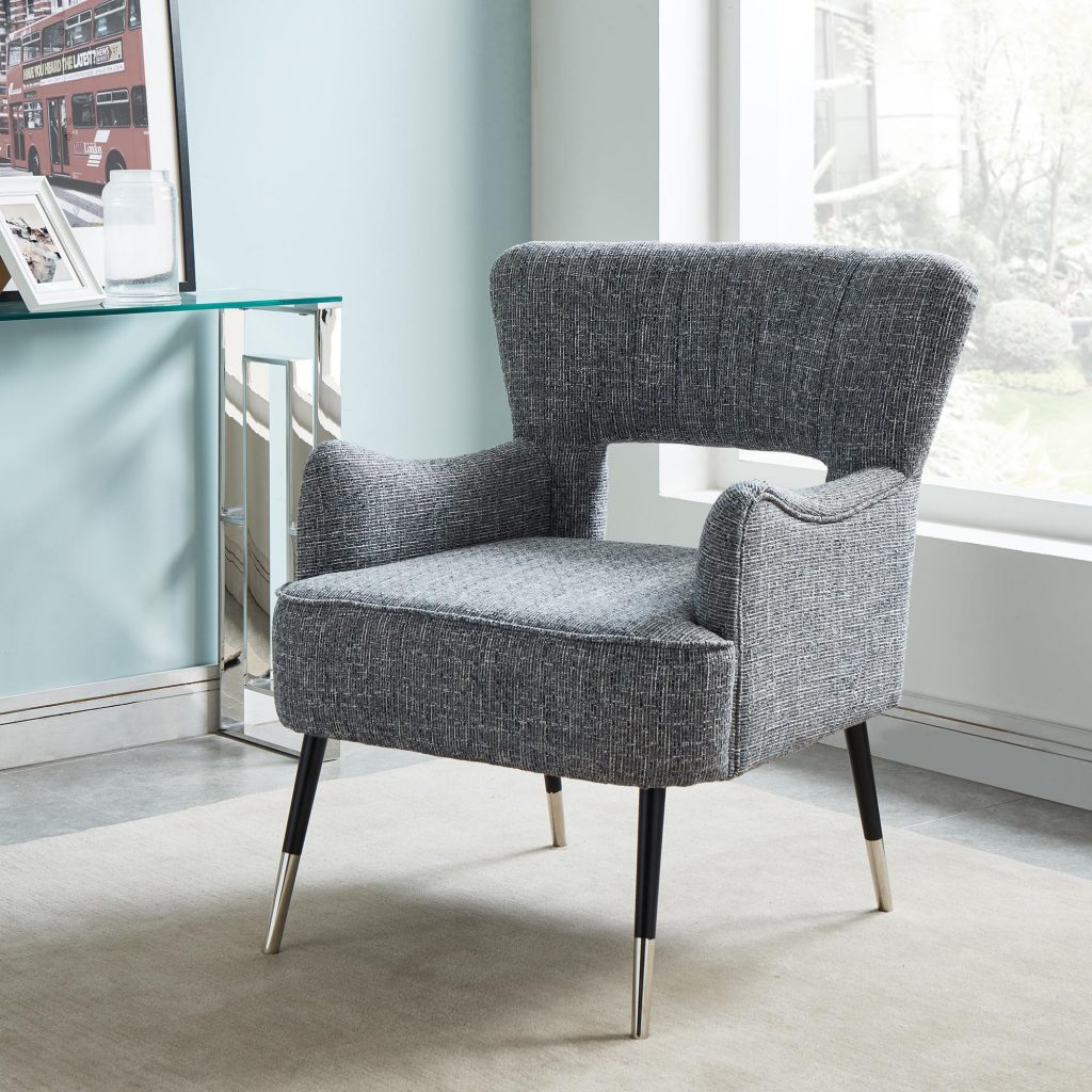 Vince Grey Blend Accent Chair