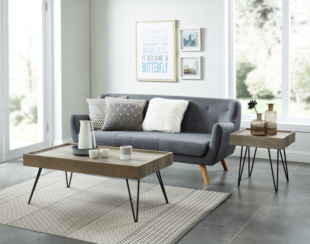 Vista Antique Grey Coffee Table