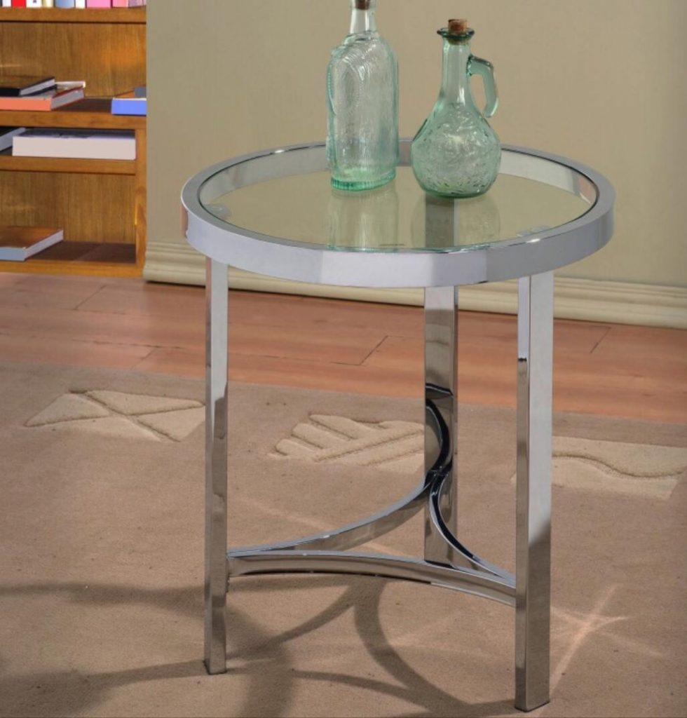 Strata Chrome Accent Table